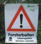 """Best.-Nr. 1191 Bannerschild """"Forstarbeiten"""" Logo Landesforsten Rheinland-Pfalz"""