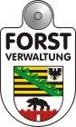Best.-Nr. 1206 Text Forstverwaltung im Eloxaldruck, Wappen der meisten deutschen Bundesländer in Folie